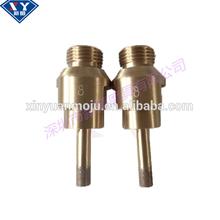 "Sintered iron bronze brazed sharp wear-resisting threaded unitary 1/2"" GAS glass diamond core drill bits"