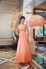 New design Formal O Neckline off Sleeve bead Evening Dress For Sale