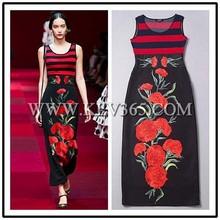 Latest Dress Design Women Fashion Floral Maxi Dress Prom Dress 2015 China Wholesale