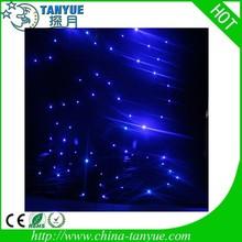 New product starcloth rgb led christmas curtain lights stars