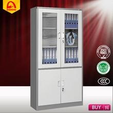 quality assurance office glass door display cabinet steel instrument cabinet