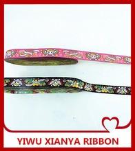22mm jacquard ribbon/skull ribbon / embroidery ribbon