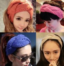 Winter cable warmmer girl hairband kint headwrap handmade crochet headband