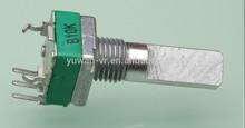 9mm 10K ohm Single gang thumbwheel carbon film potentiometer