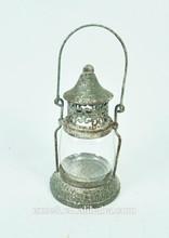 Antique tealight hanging metal glass candle lantern