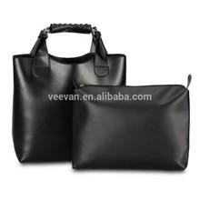 Stylish woman shoulder bag,ladies shoulder bags,black pu leather shoulder bag