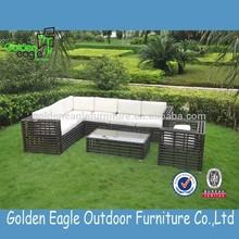 cheap L shape corner comfortable sofa garden furniture rattan furniture