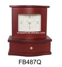 Quartz Alarm clock with roman No and drawer