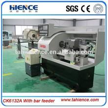Small Horiztontal cnc mini lathe machine With bar feeder and Siemens CK6132A