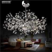 Livingroom Flower Shape Balls Chandelier Lamp Ceiling Mounted Glass Chandelier Iron Art Lighting MD2396