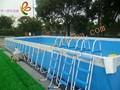 grande ao ar livre quintal de metal retangular natação piscina quadro