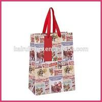fashion design christmas euro tote paper bags