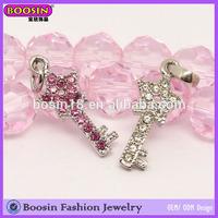 Custom Metal Charm, Crystal Star Key Charm, Personalize Metal Key Charm Jewelry Sale #11061