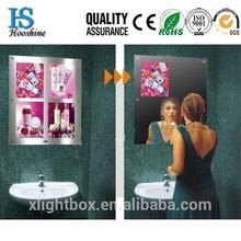 Washroom LED timer mirror light box