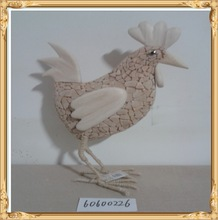 holiday decor easter decor easter ornaments Easter decoration wooden displayed cock hen white
