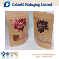High grade Window kraft stand up zippper pouch/Brown kraft paper bags/Dried food packaging bag