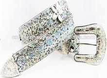 Handmade silver stone beaded western cowgirl bling rhinestone concho belt