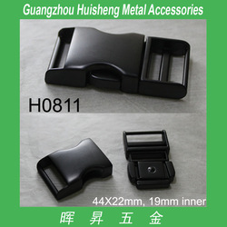 gunmetal finishing side release buckles for bag strap