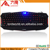 Professional gaming led keyboard with 3 color back light