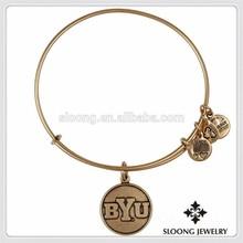 Wholesale Memory Of University Logo Bangle Vintage Style Jewelry