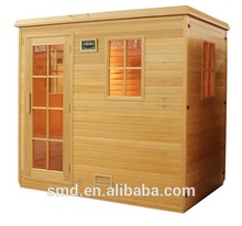 smartmak traditional wood finland steam sauna room with double control panel