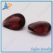 wuzhou dark red pear shape glass beads gemstone