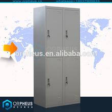 ISO certified Compartment school lockers 4 door military metal locker