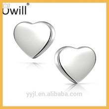 Heart Shaped Stud Earrings Fashionable Girls Earrings Design Image Silver Earring