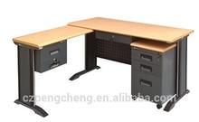 Dark Grey Wood Top &Steel Mobile Cabinet Office Desk/PCB-407