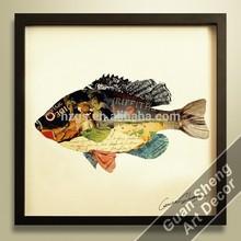 3d framed fish restaurant wall art decoration