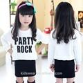 venta al por mayor qz1005 los niños de la moda de primavera otoño de ropa de niño ropa de niños más reciente new baby vestidos largos de falda y blusa trajes