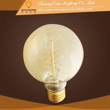 Best seller big globe bulbs light,Chinese vintage ligh bulb, G95 G125 round clear light bulbs