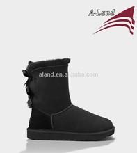 Black Bailey bow Double face sheepskin snow boot