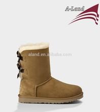 Chestnut Bailey bow Twin face sheepskin Winter boot