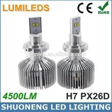 New Arrival CE RoHS Lumileds 11V 30V 45W 6000K 4500lm Car PX26D H7 LED Light Headlight