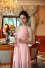 New design Formal Real Sample O Neckline off Sleeve Evening Dress For Sale