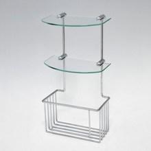 2 tier wall mounted wire shower basket shelf