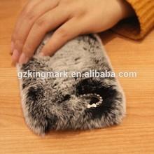 Luxury Winter Rabbit Fur Phone Cases For iPhone 5 5G 6G