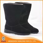 Black warm sheepskin boots wholesale