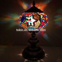 2015 New Design home decorative (TC1L01-2) glass Handmade Mosaic table Turkish Lamp