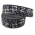Negro blanco jacquard de poliéster pp algodón de nylon cinta de las correas de la correa