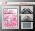 32mm geniş fotoğraf çerçevesi, bir 1. bir 2. bir 3. a4 a0 boyutu ekran duvar çerçevesi Alümin ek çerçeve