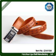 Fashion belt men genuine leather belt 100% genuine leather belt with automatic buckles