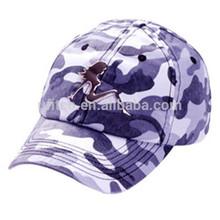 2015 fashion 100% cotton 6 panel camouflage cap