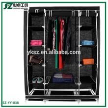 non-woven fabirc metal wardrobe armoire
