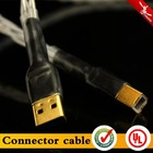 Multifunctional OCC silverplated hifi audio usb cable