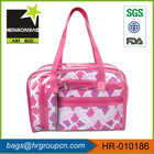 promotional printed quilted cosmetic nylon bag / trendy travel cosmetic bag