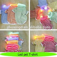 High quality safe pet LED dog T-shirt , LED dog shirts