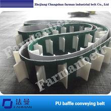 Farman:TPU baffle plate lifting conveyer belt