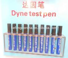 Dyne pen for testing the corona treatment effectivity